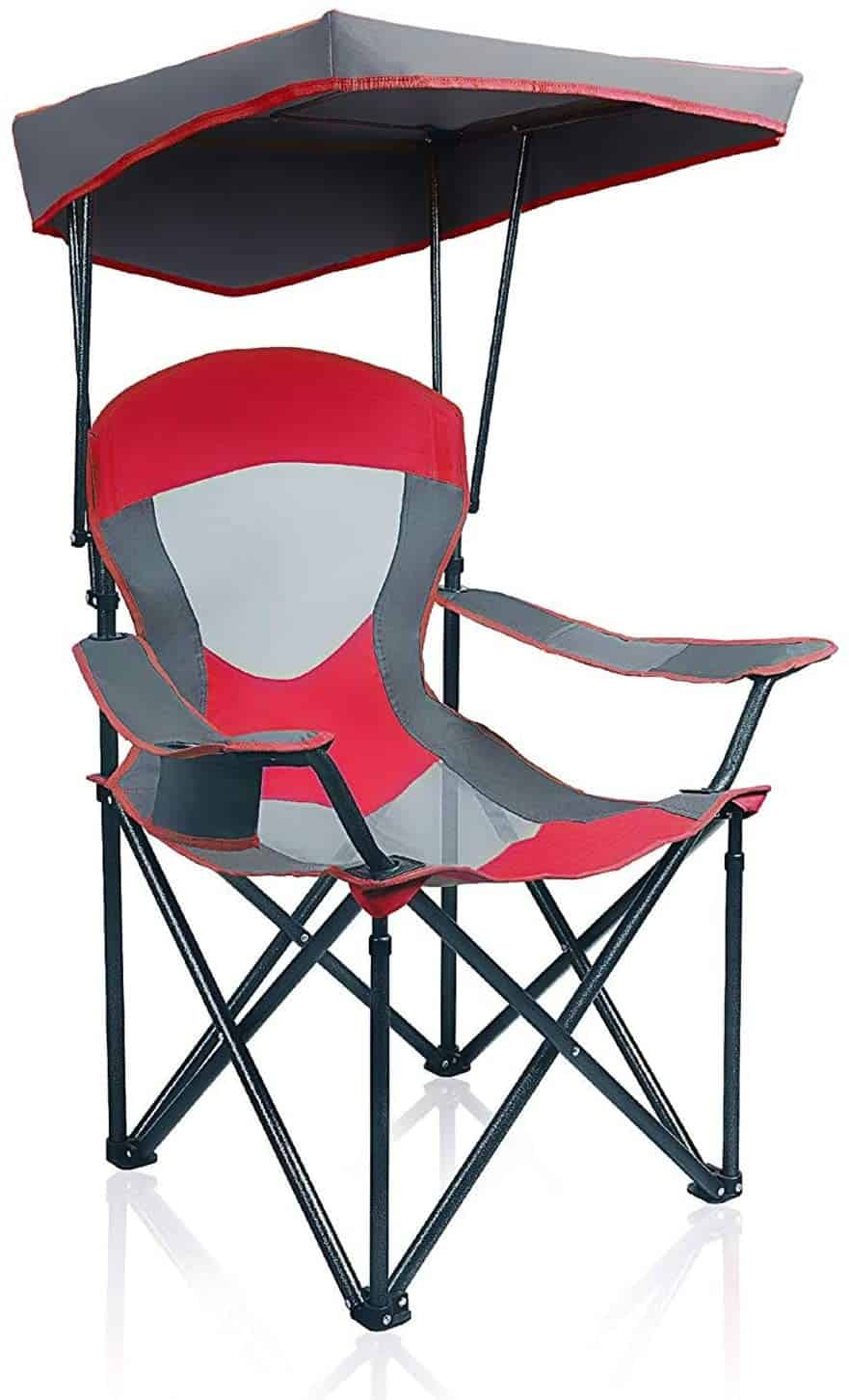 5. ALPHA CAMP Mesh Canopy Folding Camping Chair