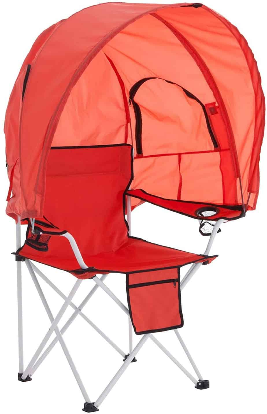 10. BrylaneHome Camp Chair with Canopy Shade