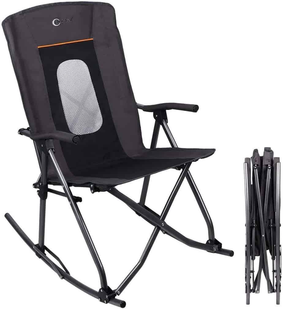 9. PORTAL Oversized Folding Camping Rocking Chair