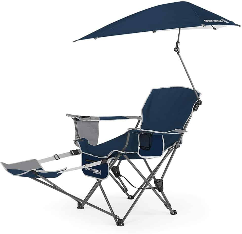 3. Sport-Brella 3-Position Recliner Chair with Footrest