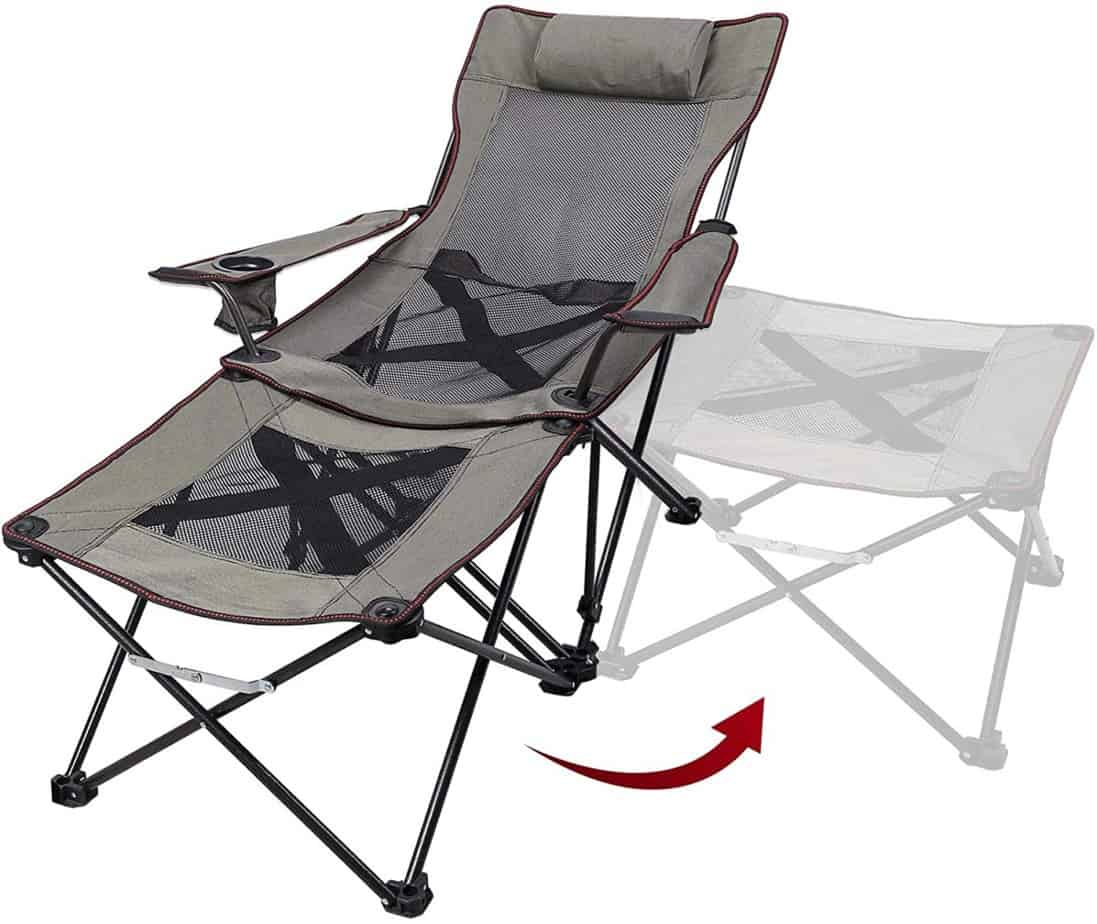 9. Xgear 2 in 1 Camping Chair with Footrest