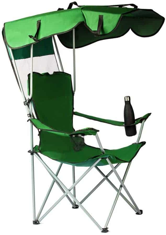 9. unhg Camp Chairs with Shade Canopy